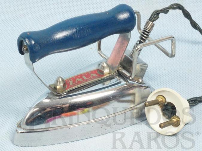 Brinquedo antigo Ferro de passar Roupa de Bonecas elétrico com 9,00 cm de altura Completo com base incorporada e fio Década de 1950