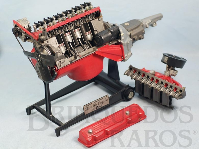Brinquedo antigo Motor 6 Cilindros Chrysler Slant Six Engine Kit montado com todas as funções mecânicas Década de 1970
