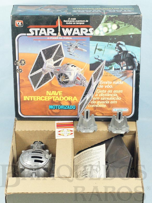 Brinquedo antigo Nave Interceptadora Star Wars perfeito estado Adesivos ainda por colar Ano 1988
