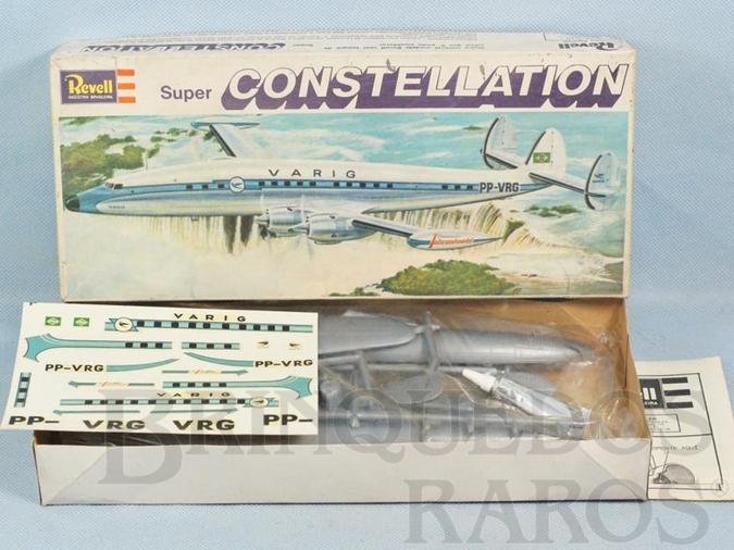 Brinquedo antigo Avião Super Constellation Varig Embalagem lacrada completo com Decalcomanias Década de 1970