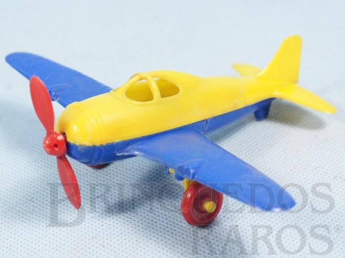Brinquedo antigo Avião com rodas retráteis 15,00 Cm de envergadura Década de 1950