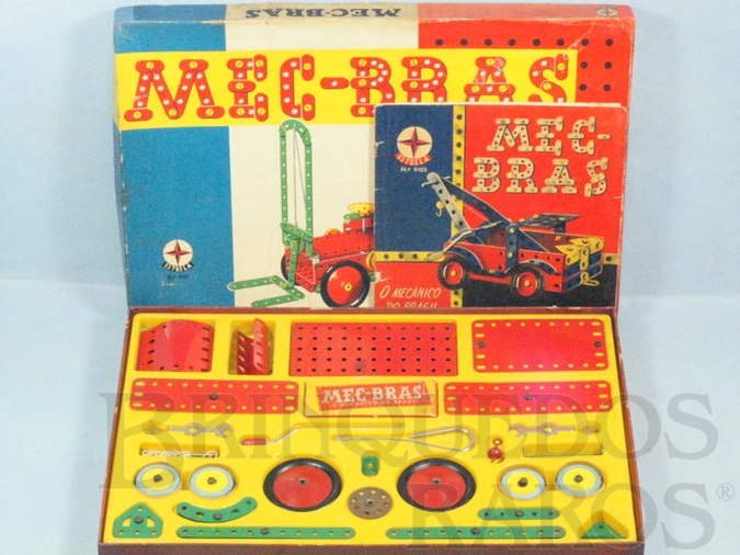 Brinquedo antigo Conjunto de Montar Mec-Bras caixa 9107 completa perfeito estado Ano 1967