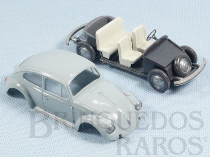 Brinquedo antigo Volkswagen Sedan 1968 com 10,00 cm de comprimento completo Década de 1960