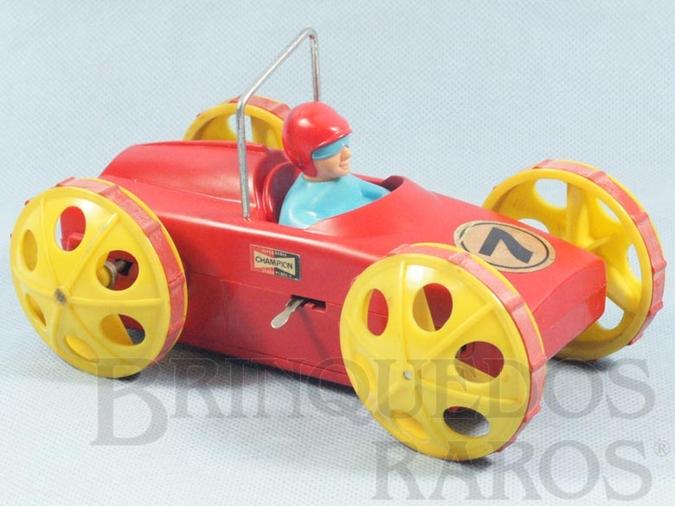 Brinquedo antigo Carro Acrobatc Racer com 17,00 cm de comprimento Sobe na parede e dá cabalhota Década de 1970
