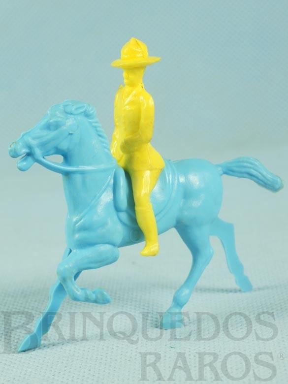 Brinquedo antigo Cavaleiro com Cavalo 8,00 cm de altura Ano 1959