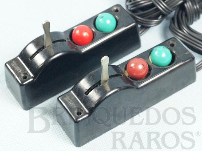 Brinquedo antigo Par de Controles para desvios O22 Switches Controllers Ano 1950 a 1966