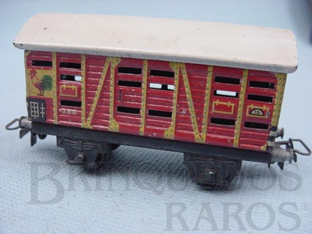 Brinquedo antigo Vagão transporte de galinhas Década de 1950