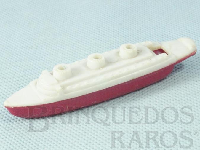 Brinquedo antigo Navio Apito com 10,00 cm de comprimento Década de 1960