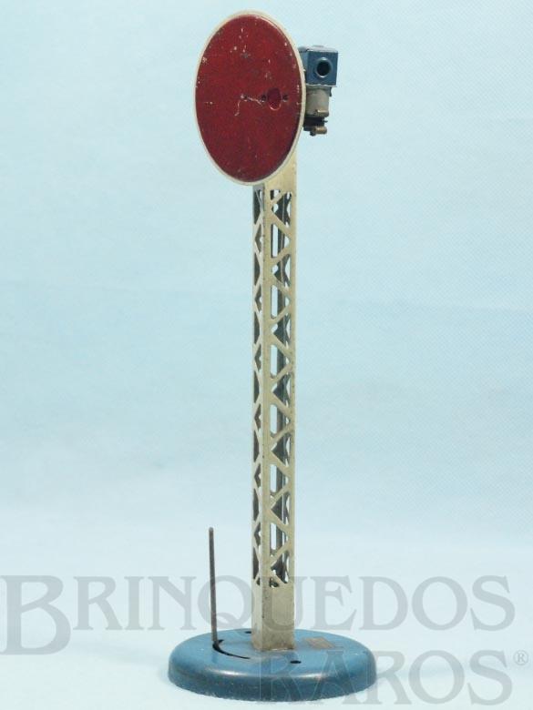 Brinquedo antigo Sinaleiro de linha com 25,00 cm de altura Hornby Paris Década de 1930