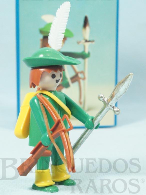 Brinquedo antigo Playmobil Robin Hood completo Década de 1980
