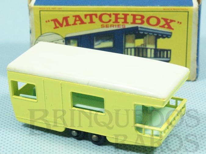 Brinquedo antigo Trailer Caravan black plastic Regular Wheels amarelo