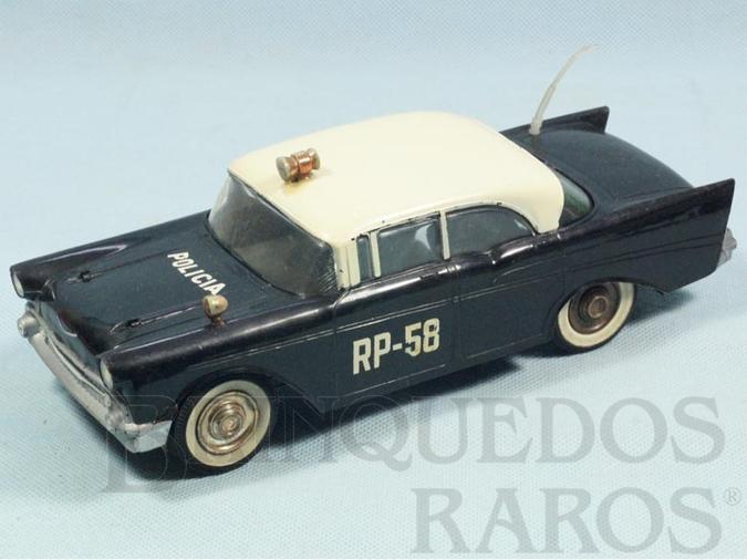 Brinquedo antigo Chevrolet Bel Air 1956 Policia com 30,00 cm de comprimento Década de 1960