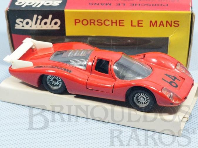 Brinquedo antigo Porsche 908 Le mans vermelho Fabricada pela Brosol Solido brésilienne Datado 11-1969
