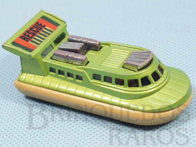 Brinquedo antigo Rescue Hovercraft Superfast chassi bege