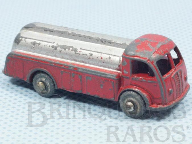Brinquedo antigo Caminhão Tanque com 5,00 cm de comprimento Rodas de metal Década de 1950