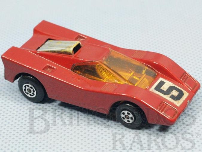 Brinquedo antigo Hairy Hustler Superfast vermelho escuro Brazilian Matchbox Inbrima 1970