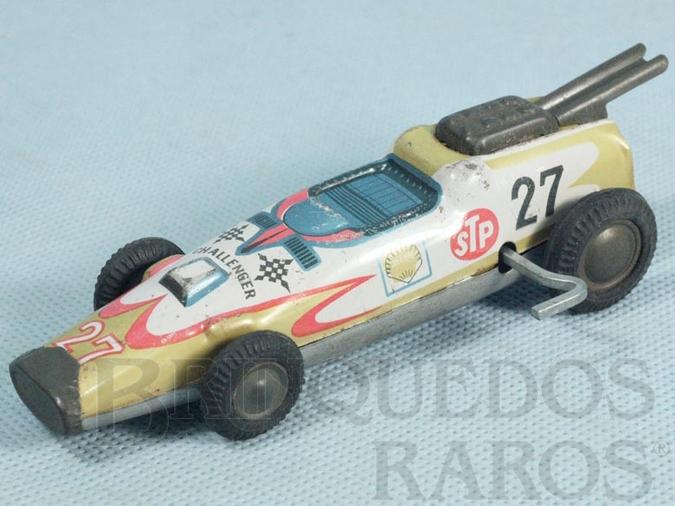 Brinquedo antigo Carro Fórmula Indy Challenger com 13,00 cm de comprimento Década de 1970