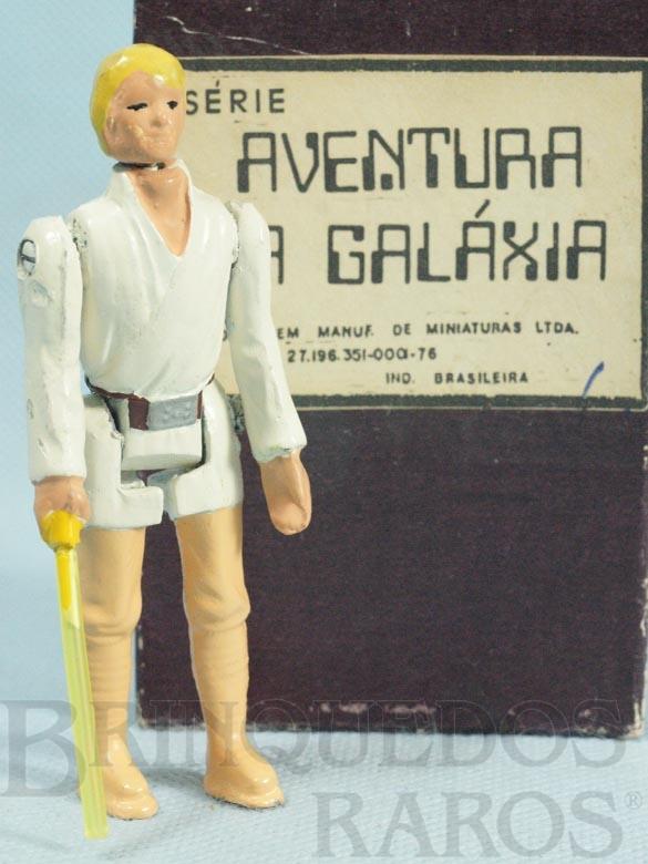 Brinquedo antigo Luke Skywalker com 10,00 cm de altura Série Aventura na Galáxia Guerra nas Estrelas Star Wars Ano 1983