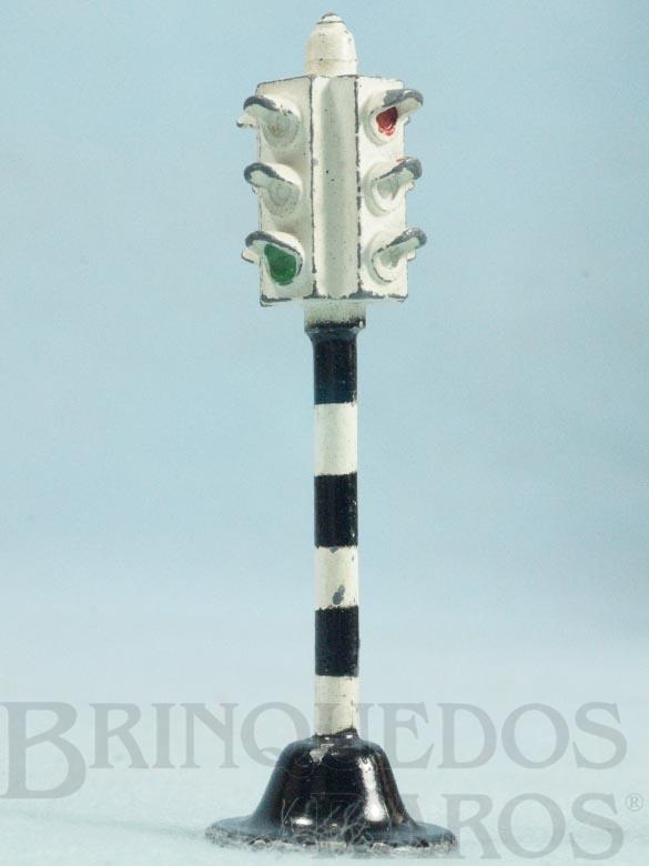Brinquedo antigo Sinal de transito com 6,50 cm de altura Ano 1955