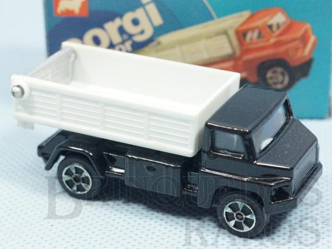 Brinquedo antigo Tipping Lorry preto com caçamba branca Brazilian Corgi Jr Kiko Década de 1980