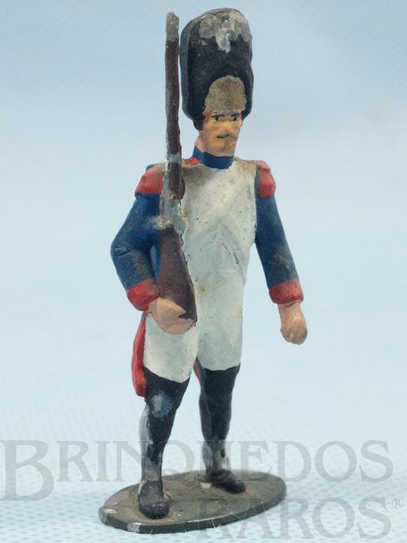 Brinquedo antigo Soldado Frances montando gurada Século XIX Década de 1970