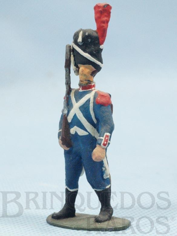 Brinquedo antigo Soldado Frances Século XIX montando guarda Década de 1970