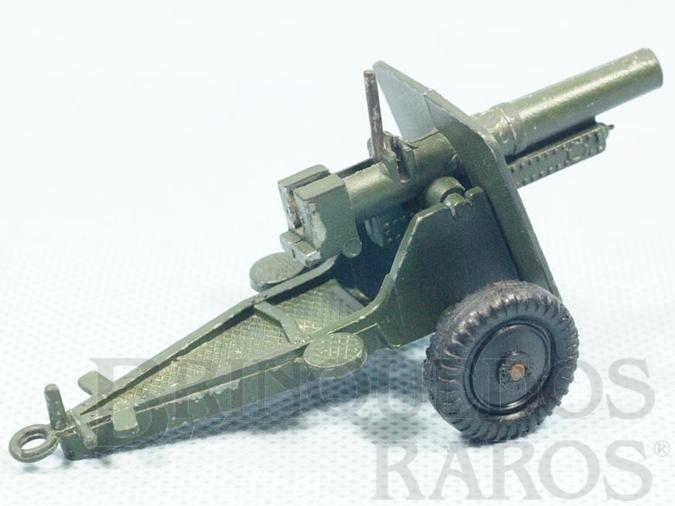 Brinquedo antigo Canhão de Campanha com 10,00 cm de comprimento Década de 1970