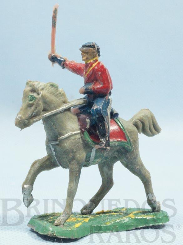 Brinquedo antigo Comandante do Exército Paraguaio a cavalo com Sabre Batalha do Tuiutí Década de 1960