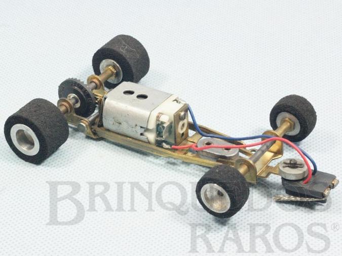 Brinquedo antigo Mecânica completa para carros Tyrrell Brabham Ferrari e Copersucar Série Emerson Fittipaldi com Chassi Motor Eixos Rodas etc Década de 1980