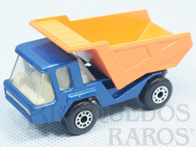 Brinquedo antigo Atlas Truck Superfast azul metálico Brazilian Matchbox Inbrima 1970