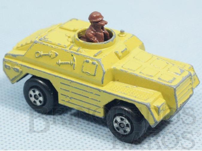 Brinquedo antigo Stoat Rola-Matics Brazilian Matchbox Inbrima bege 1970