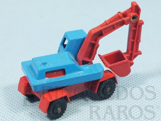 Brinquedo antigo Escavadeira Digger azul e vermelho Brazilian Corgi Jr Kiko
