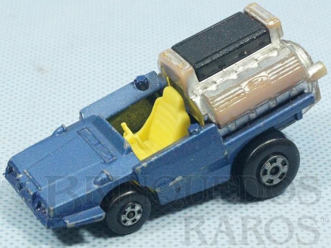 Brinquedo antigo Tyre Fryer Superfast Brazilian Matchbox Inbrima azul Década de 1970