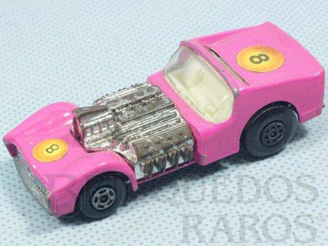 Brinquedo antigo Road Dragster Superfast Inbrima cor de rosa Brazilian Matchbox Década de 1970