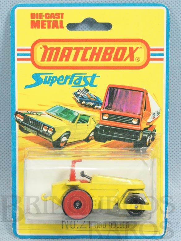 Brinquedo antigo Rod Roller Superfast rodas vermelhas Blister aberto Década de 1970