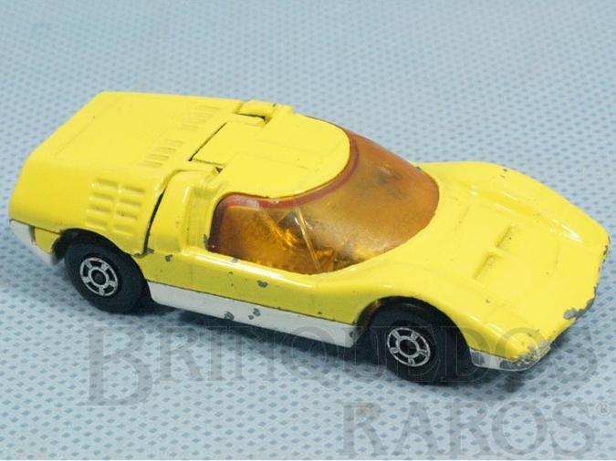 Brinquedo antigo Mazda RX500 Superfast amarelo Brazilian Matchbox Inbrima 1970