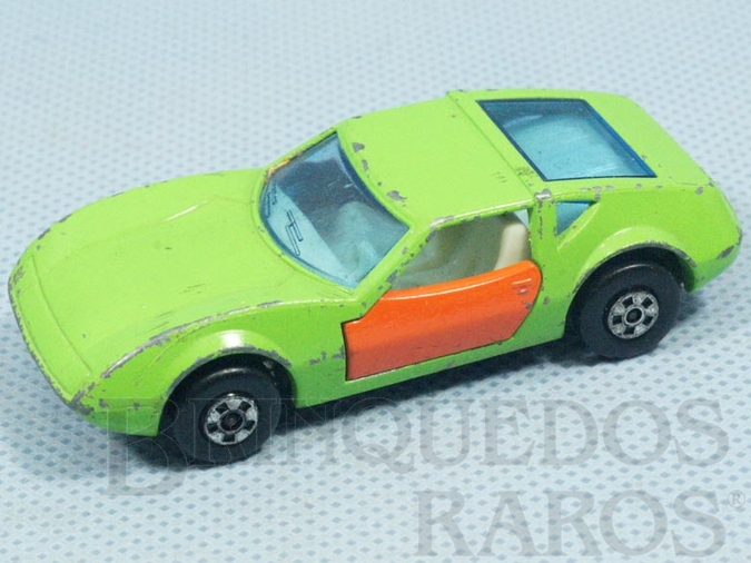 Brinquedo antigo Monteverdi Hai Superfast verde com portas laranja Brazilian Matchbox Inbrima 1970