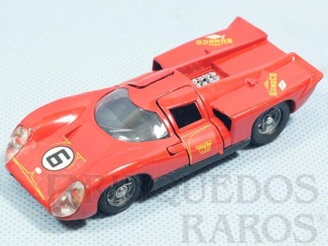 Brinquedo antigo Lola T70 MK3B vermelha Fabricada pela Brosol Solido brésilienne Datada 1-1970