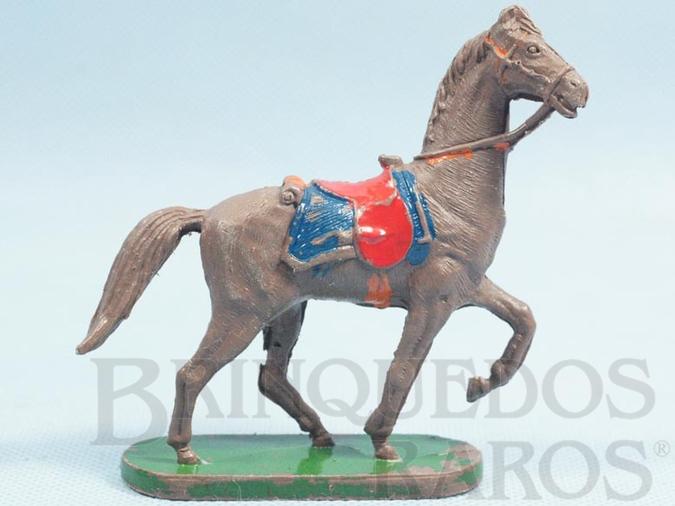 Brinquedo antigo Cavalo de Cowboy marrom Série Planície Selvagem Década de 1970