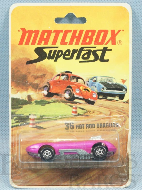 Brinquedo antigo Hot Rod Draguar Superfast rosa Brister lacrado