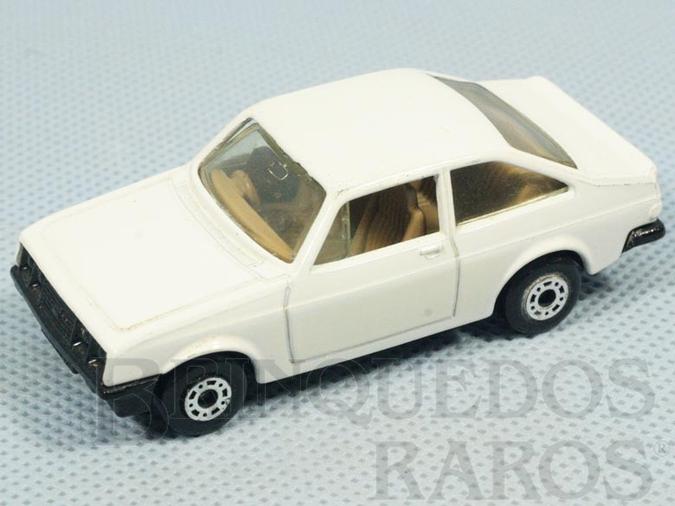 Brinquedo antigo Ford Escort RS2000 Superfast branco Brazilian Matchbox Inbrima 1970