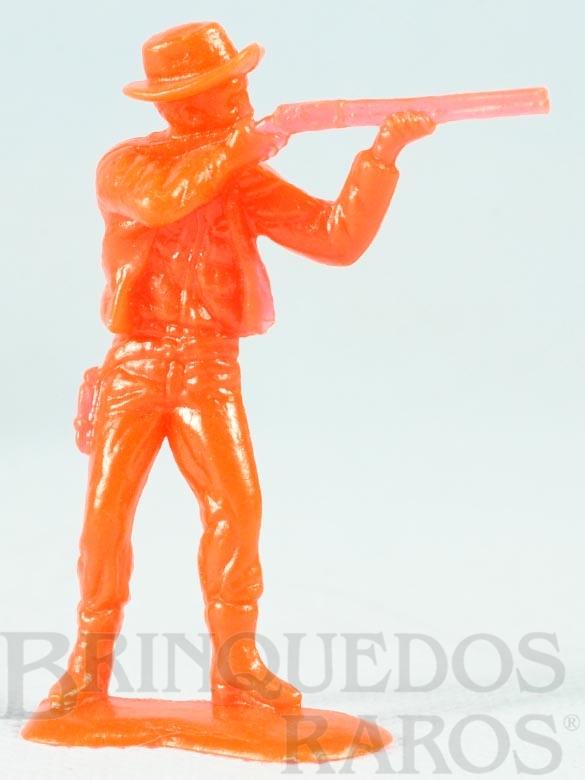 Brinquedo antigo Cowboy a pé atirando com rifle Conjunto Grand Canyon Ano 1985