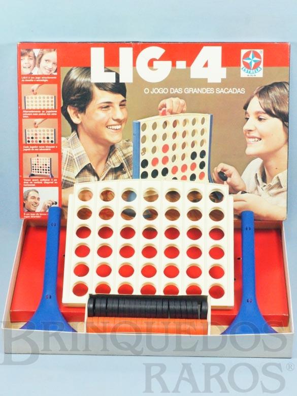 Brinquedo antigo Jogo Lig-4 O Jogo das Grandes Sacadas Década de 1970