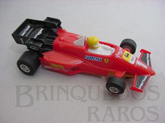 Brinquedo antigo Ferrari 126C Turbo formula 1 piloto Micheli Arboreto Polistil Década de 1980