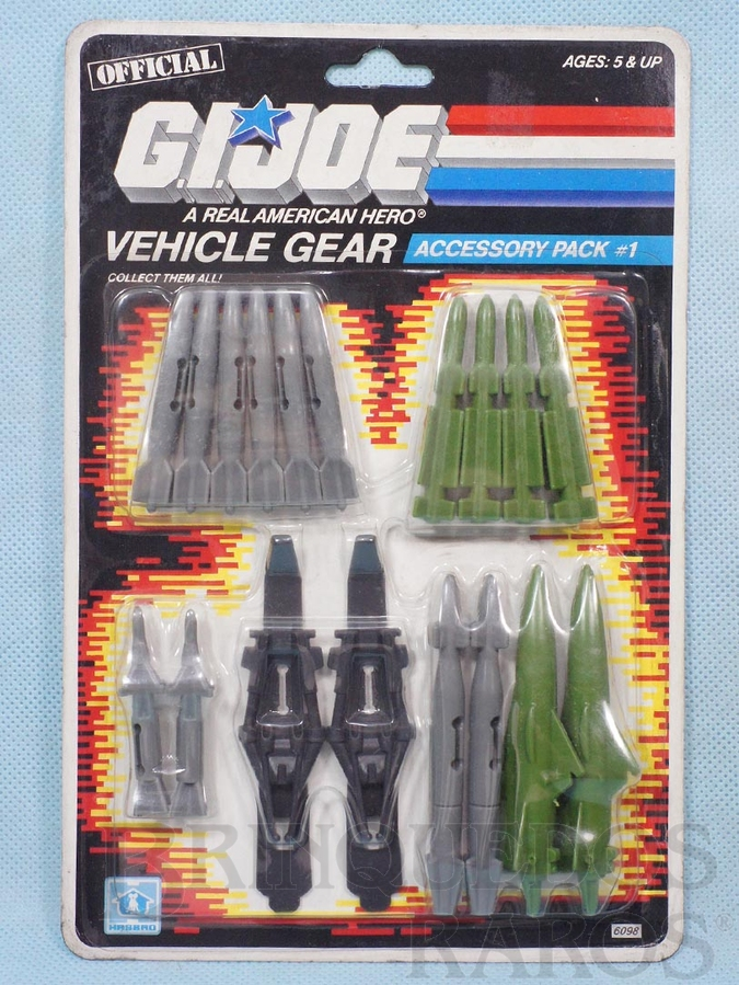 Brinquedo antigo Accessory Pack number 1 Vehicle Gear completo Blister lacrado Ano 1986