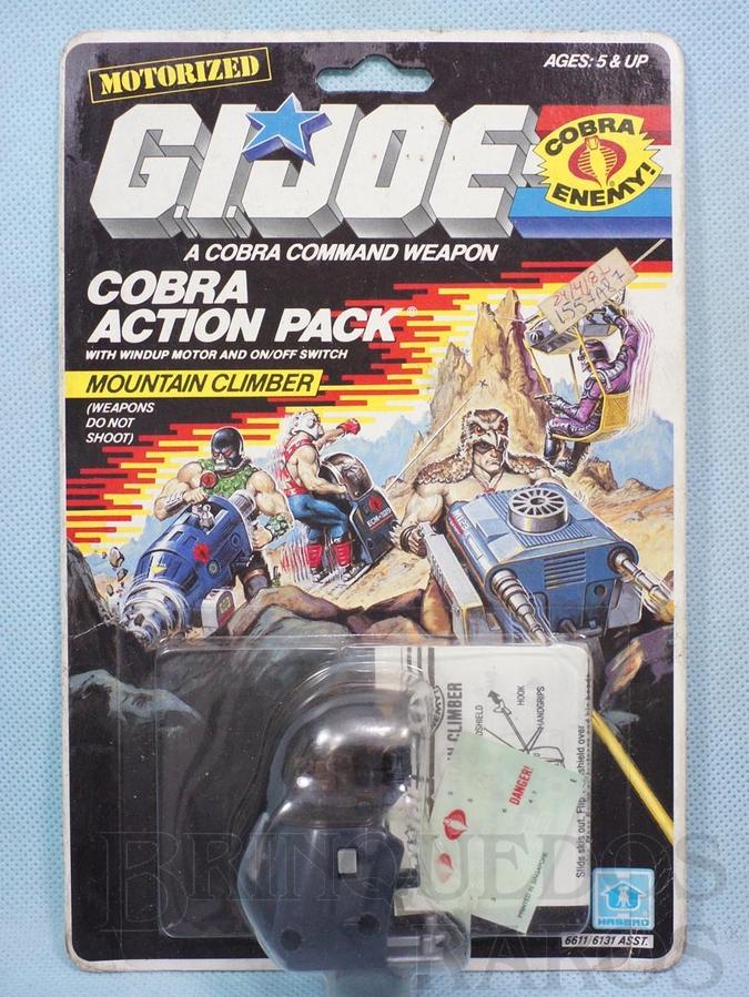Brinquedo antigo Action Pack Cobra Mountain Climber completo Blister lacrado Ano 1987