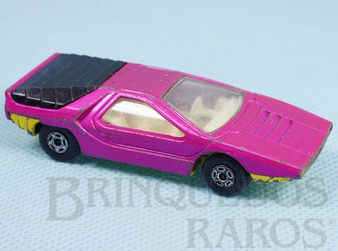 Brinquedo antigo Alfa Carabo Superfast rosa metálico