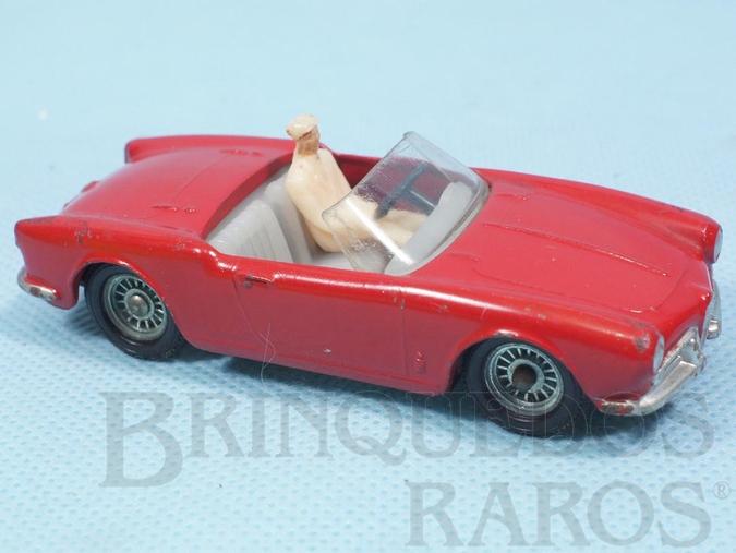 Brinquedo antigo Alfa Romeo Giulietta Spider vermelha com interior branco Fabricada pela Brosol Solido brésilienne Década de 1970