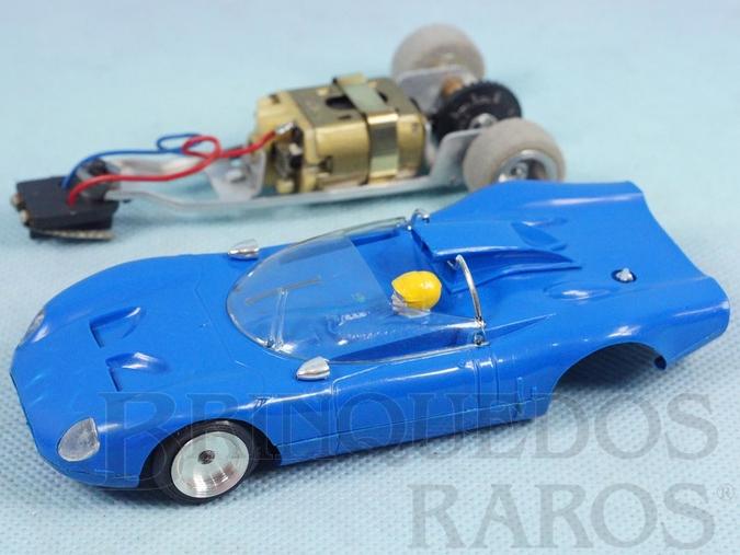 Brinquedo antigo Alfa Romeo P33 Sport Chassi de Alumínio basculante Ano 1970