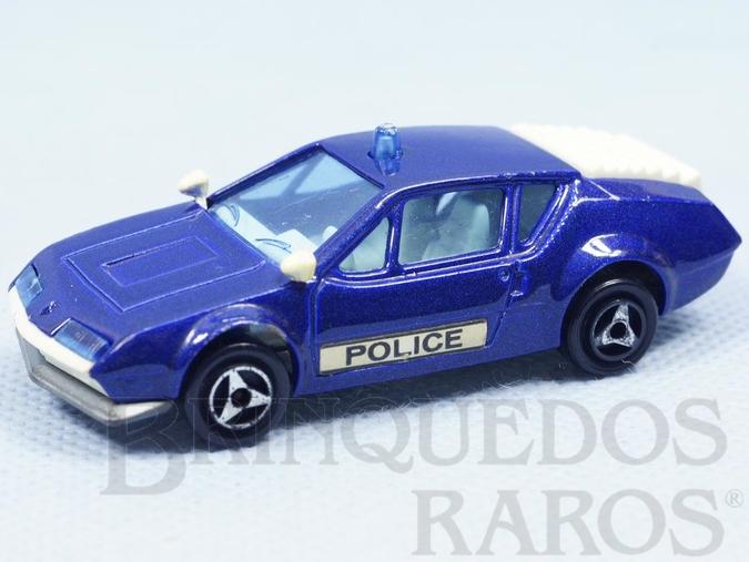 Brinquedo antigo Alpine A310 Police Majorette Brésilien Kiko Década de 1980